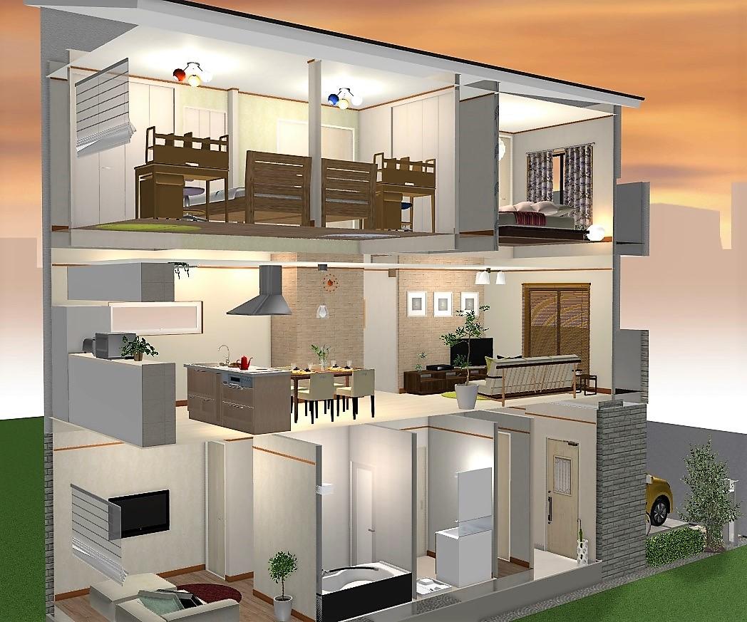 4LDK建物プラン例 内観イメージ図