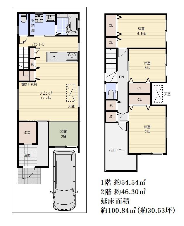 建物プラン例 間取り図