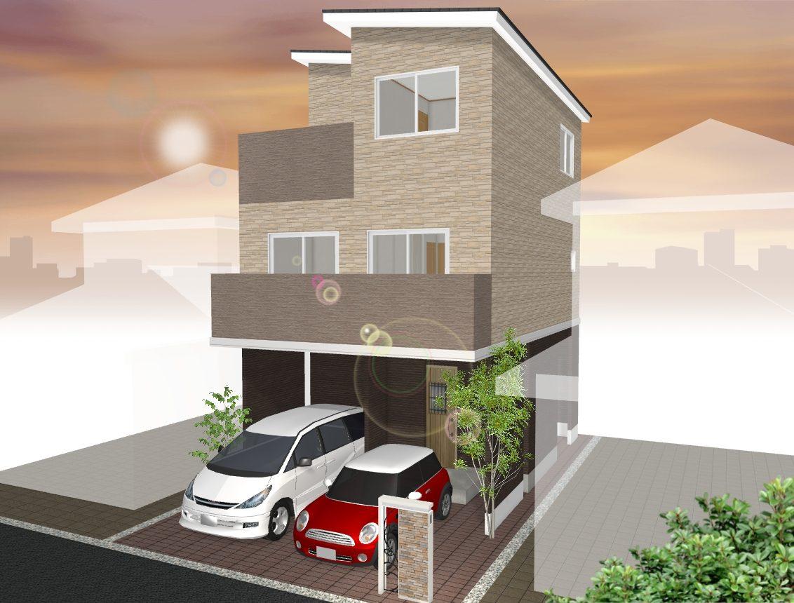 (建物プラン例 ご参考イメージ図) 外観や住宅設備もお好みでお選びいただけますよ♪