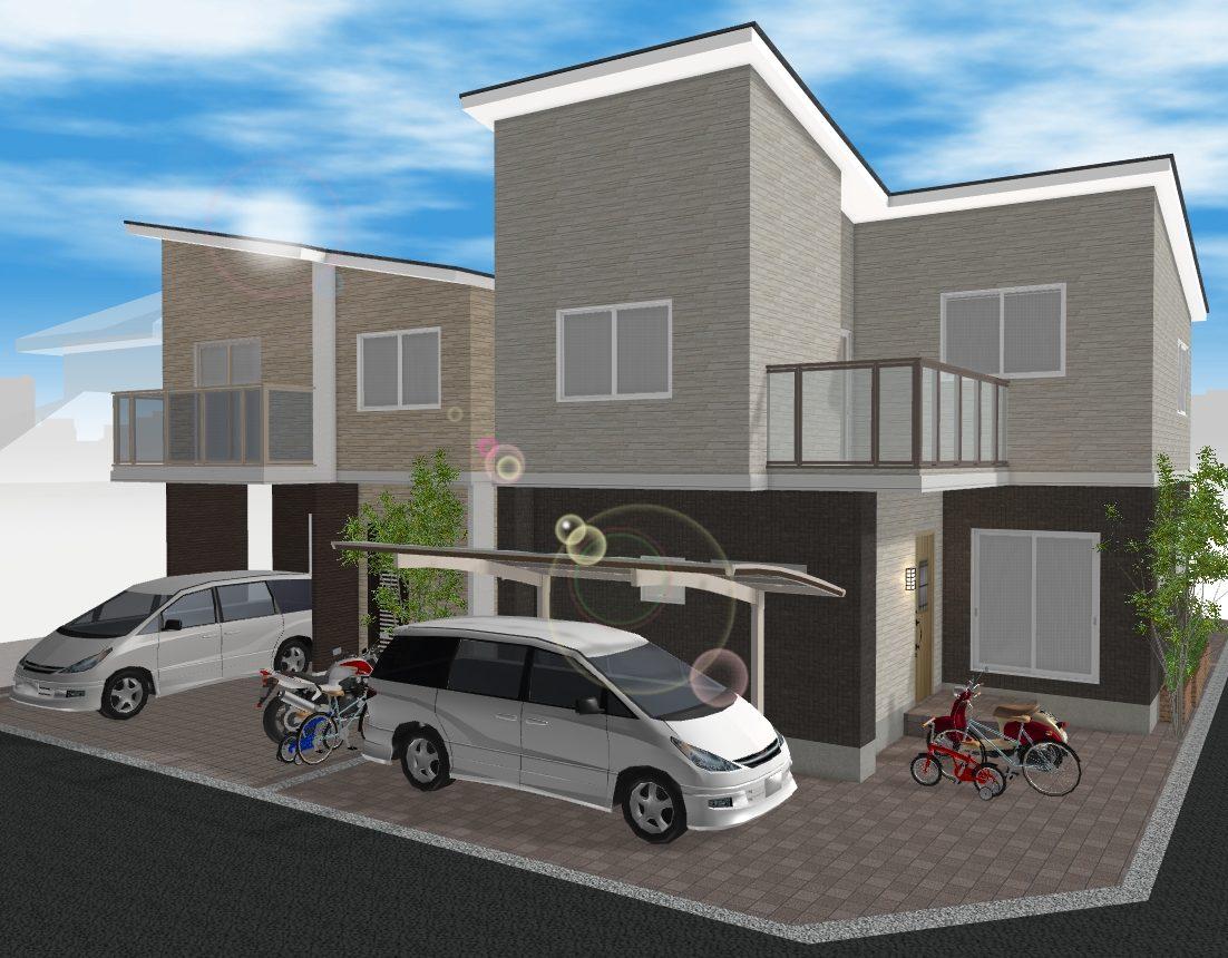 (建物プラン例 イメージ図) 外観や住宅設備もお好みでお選びいただけます♪