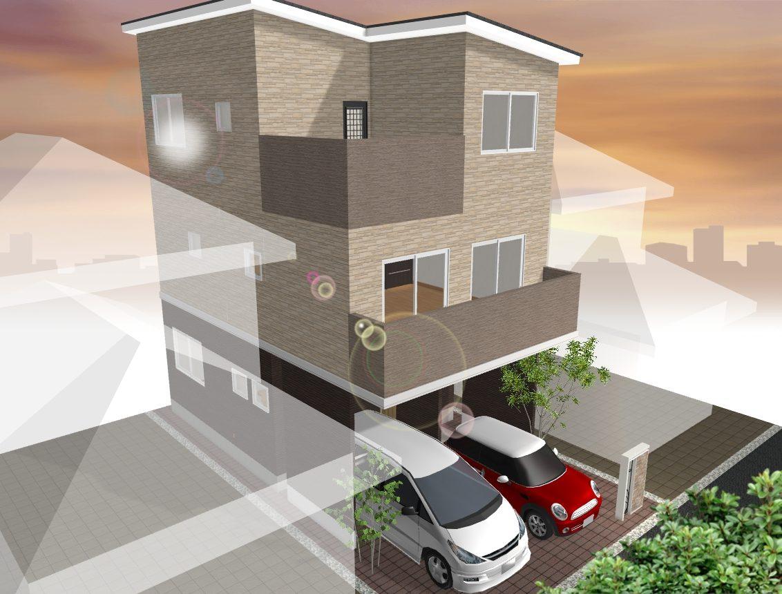 (建物プラン例 イメージ図) 外観や間取り、住宅設備はお好みでお選びいただけます♪