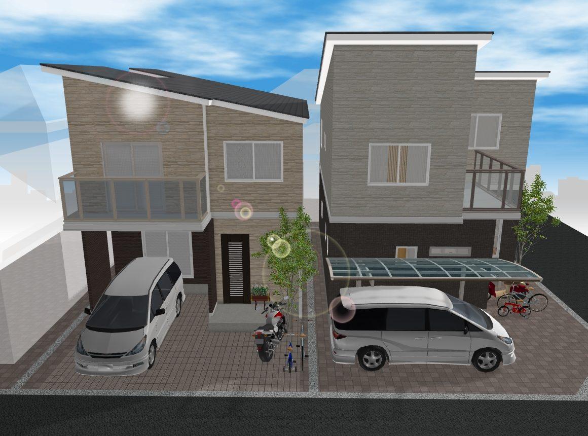 (建物プラン例 イメージ図) 間取りや住宅設備を自由に選択・設計可能なフリープラン対応物件です