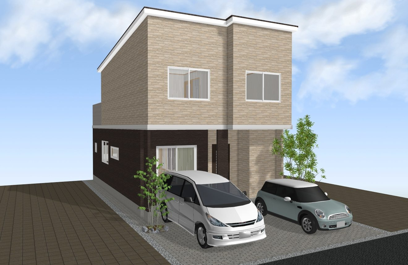 (建物プラン例 イメージ図) 外観や間取り、住宅設備がお好みでお選びいただけます♪
